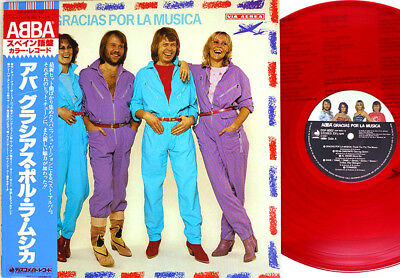 "ABBA ""Gracias Por La Musica"" Japan ONLY RED VINYL Lp w/Obi ALL SUNG IN SPANISH for sale  Saint Petersburg"