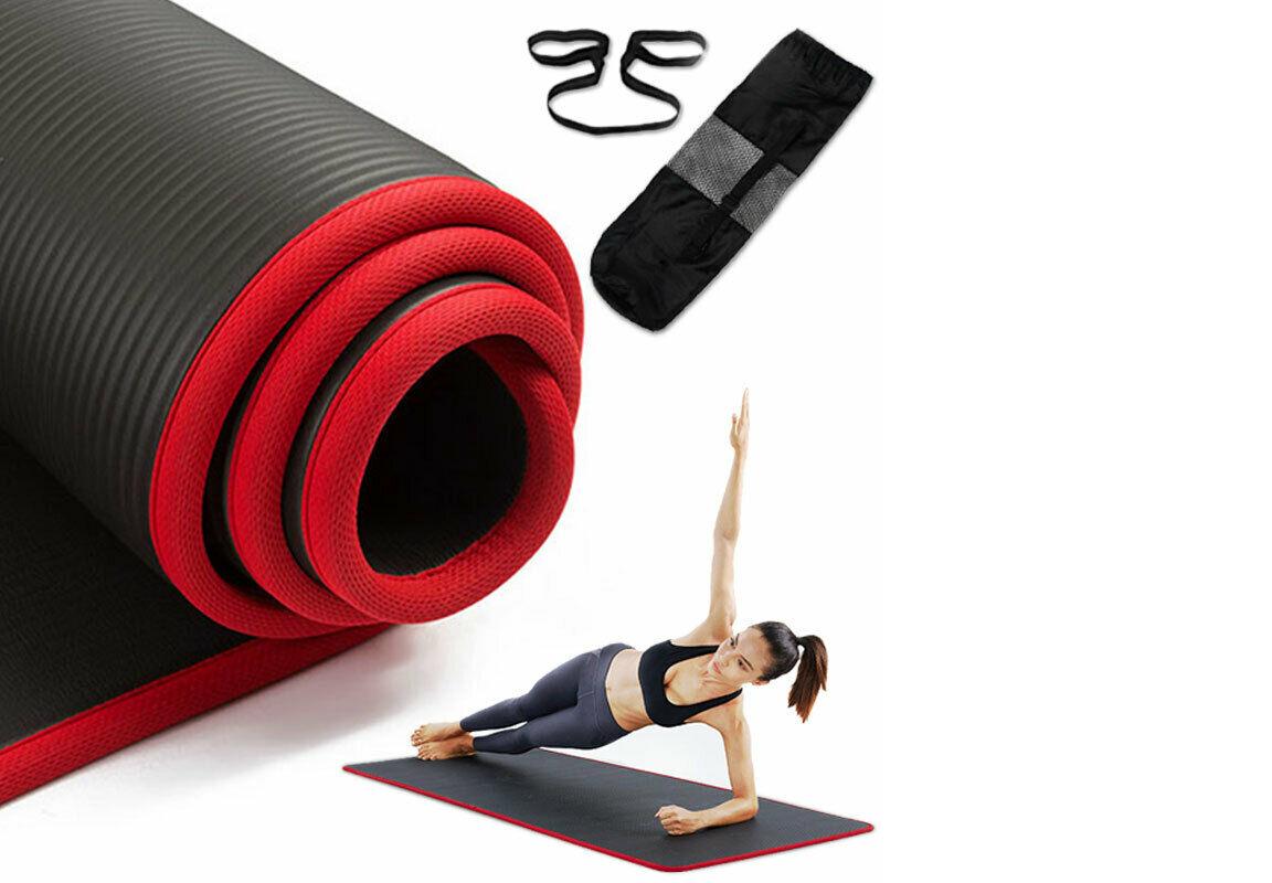 Yoga Mat Thick Non-slip Durable Exercise Extra Mats Pilates