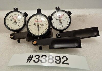Lot Of Three Starrett Dial Indicators Inv.33892