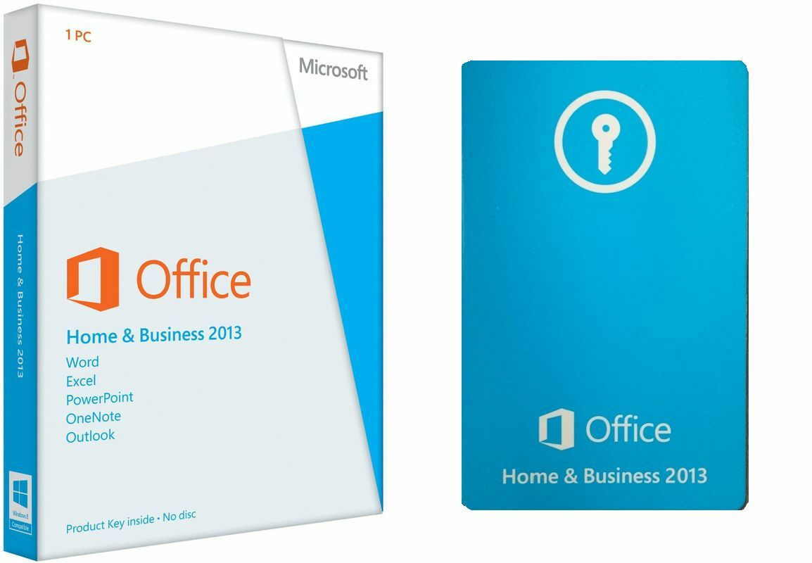 microsoft office home and business 2013 pkc card only 1 license for windows
