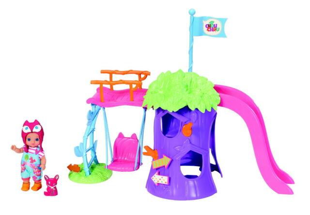 Zapf MINI CHOU CHOU Spielplatzset mit Puppe Minipuppe Susy 12cm und Fuchs 920312