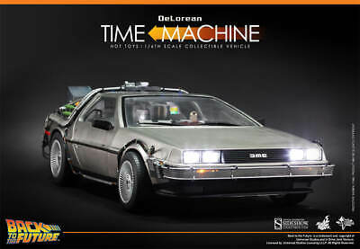 HOT TOYS BACK TO THE FUTURE DELOREAN MMS260 AND MARTY MCFLY MMS257 1/6 FIGURE