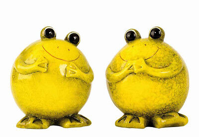 Frosch witzig Keramik 2er-Set 19 cm (2060-I) Gartenfigur Gartendeko