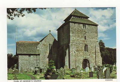 Clun, St. Georges Church, Old Judges Postcard, B113