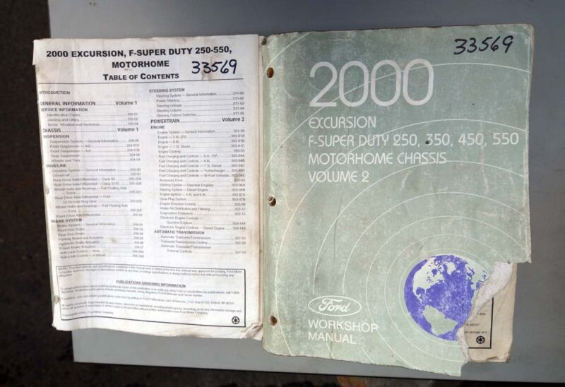 Ford 2000  F- Series Excursion Workshop Manuals (Inv.33569)
