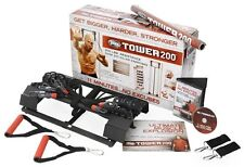 Tower 200 Door Gym by Body By Jake with Chart Guide NEW in Box + Bonus Straight