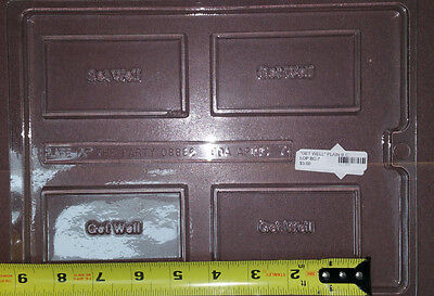 """Get Well Business Card Chocolate Candy Soap  Plastic Mold  LOP BC-7 4""""x2""""x3/8"""""""