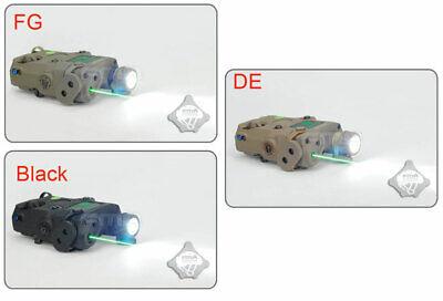 FMA Tactical PEQ-15 LED Flashlight Green Laser IR Lens Sight For AEG GBB