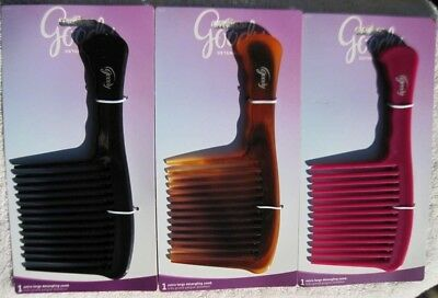 - Goody Solid Plastic Extra Large Detangling Hair Comb Wide Teeth Detangle Glide