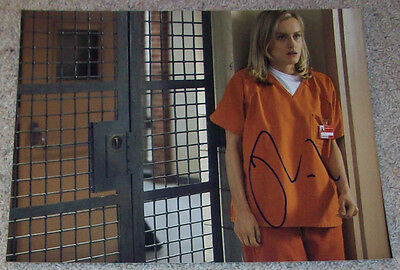 Taylor Schilling Signed Orange Is The New Black 11X14 Photo W Proof Autograph B