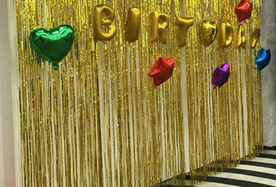 Happy New Year Metallic Foil Fringe Curtain Tinsel Party Decoration Wedding Home