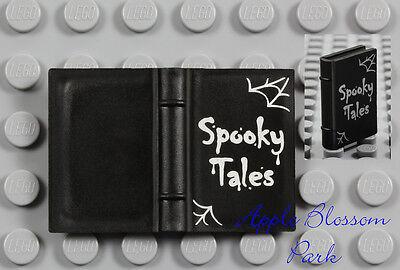 NEW Lego Minifig Black SPOOKY TALES BOOK - Elf Friends Halloween Story 2x3 Book - Harry Potter Halloween Story
