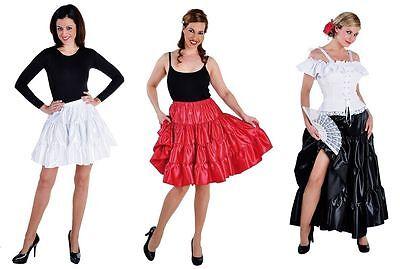 Taft Rock Kostüm Kleid Damen Spanierin Flamenco Saloon Unterrock Petticoat Hippy
