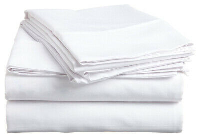 - White Solid 4 PCs Bed Sheets Set 800 TC Egyptian Cotton 15