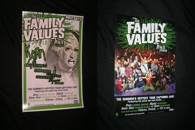 Original 2006 KORN FAMILY VALUES TOUR MOVIE Vintage Poster 2 SIDED U.S. VERSION