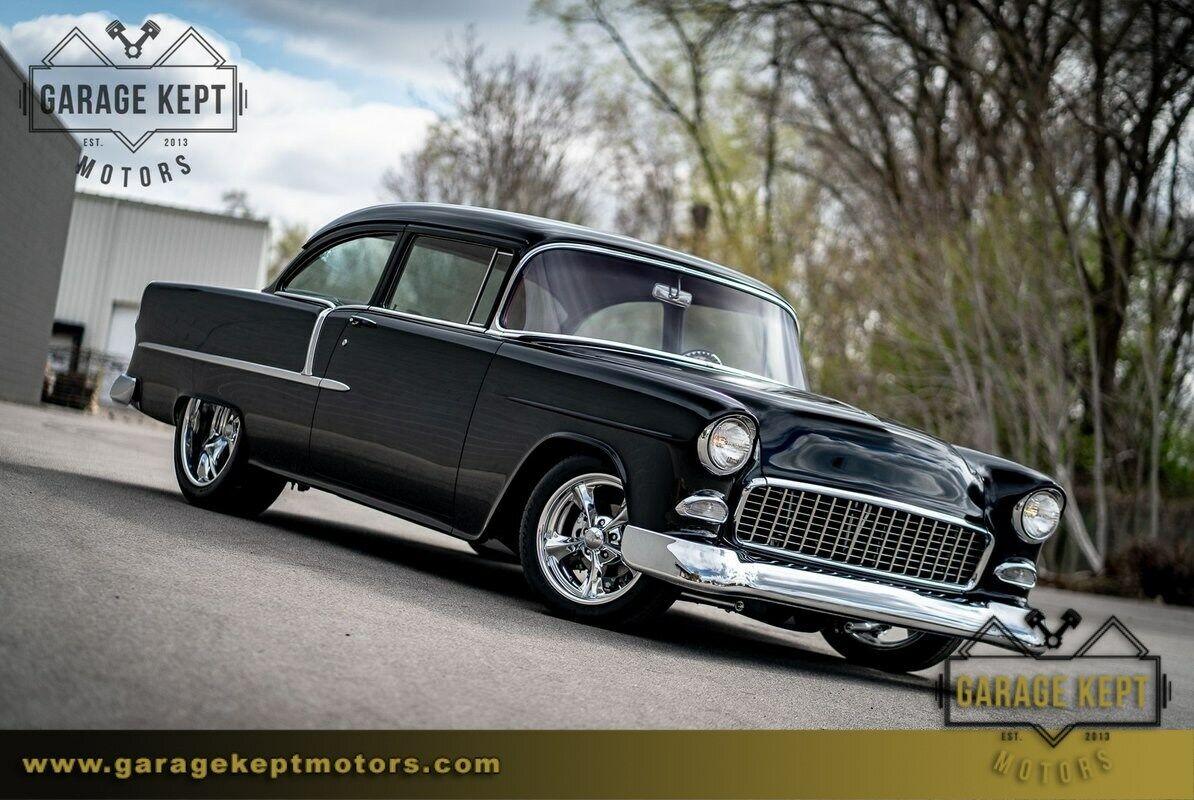 1955 Chevrolet Bel Air  Black Coupe 454 V8 5 Miles