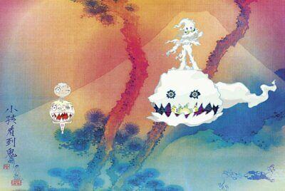 Kid Cudi Kids See Ghosts Album Cover Poster 36 X 24](Ghost Kid)
