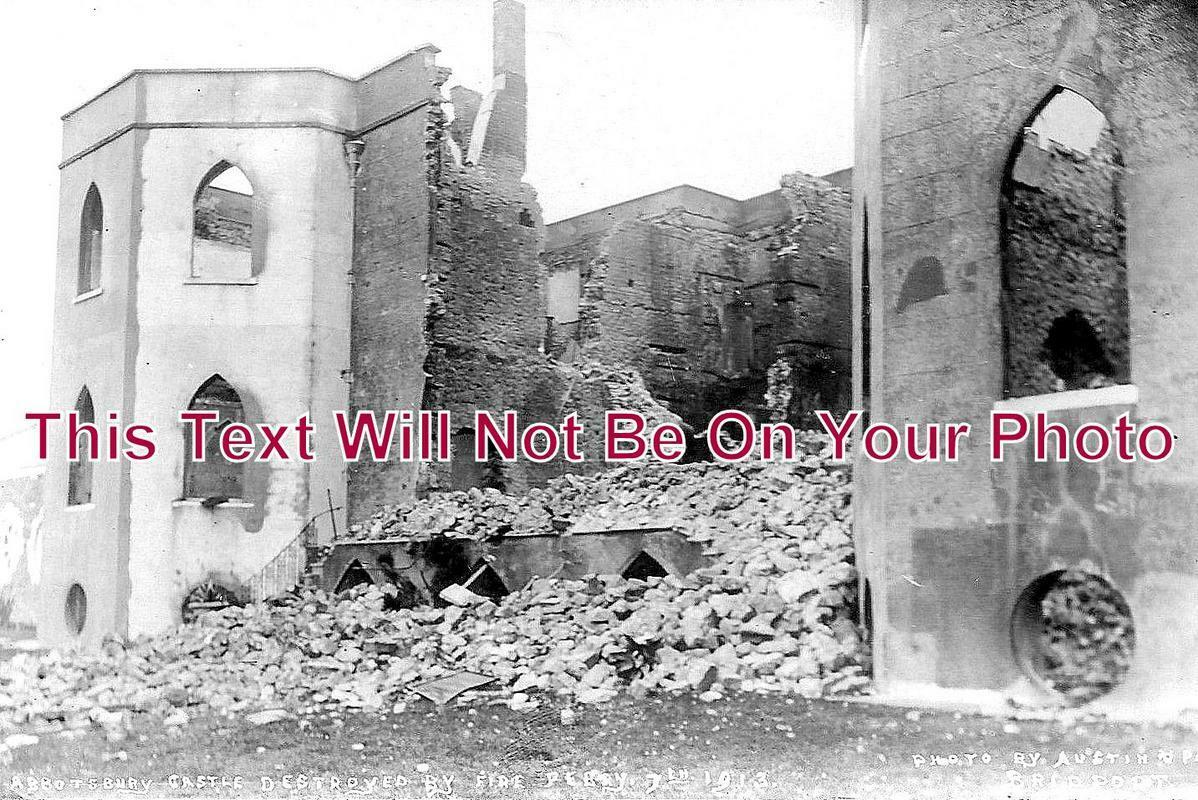 DO 1059 - Abbotsbury Castle Destroyed By Fire, Dorset 1913
