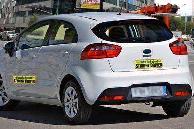 Zento Deals 3Pk. Magnetic Please Be Patient Student Driver Bumper Warning Decals