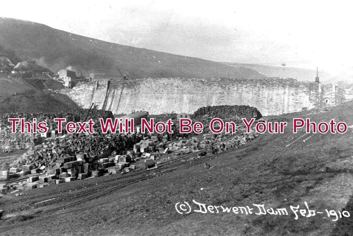 DR 1024 - Derwent Dam, Derbyshire c1910