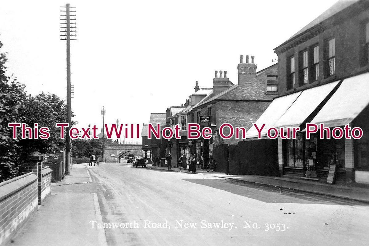 DR 1018 - Tamworth Road, New Sawley, Long Eaton, Derbyshire c1925