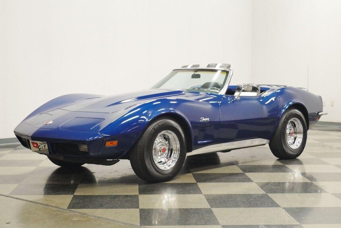 1973 Blue Chevrolet Corvette Convertible    C3 Corvette Photo 6
