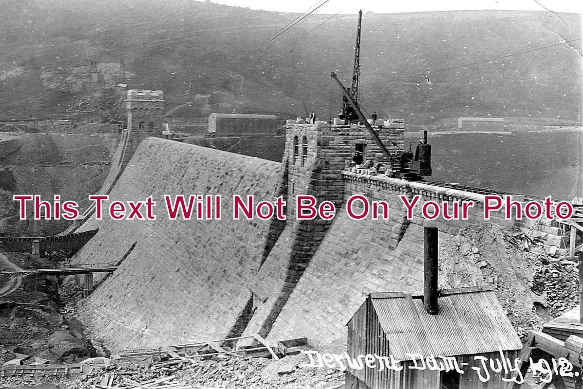 DR 1023 - Derwent Dam Under Construction, Derbyshire 1912
