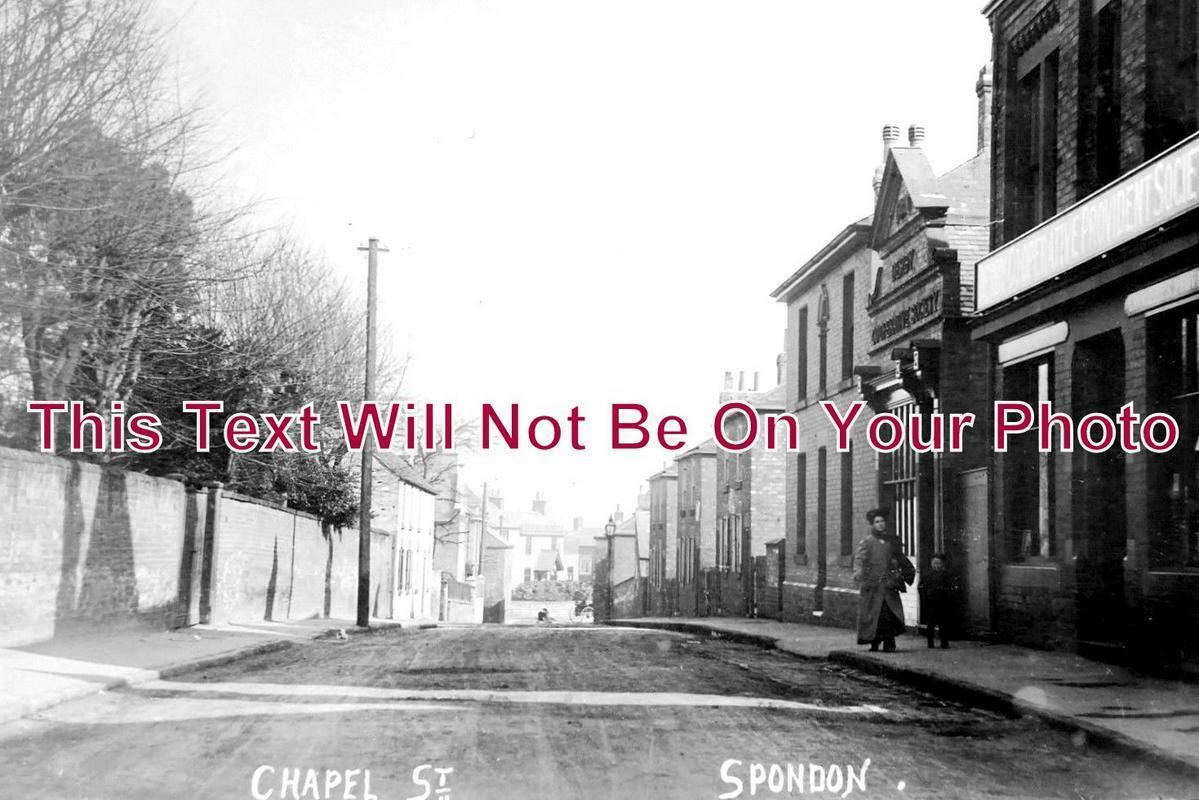 DR 1010 - Chapel Street, Spondon, Derbyshire c1908