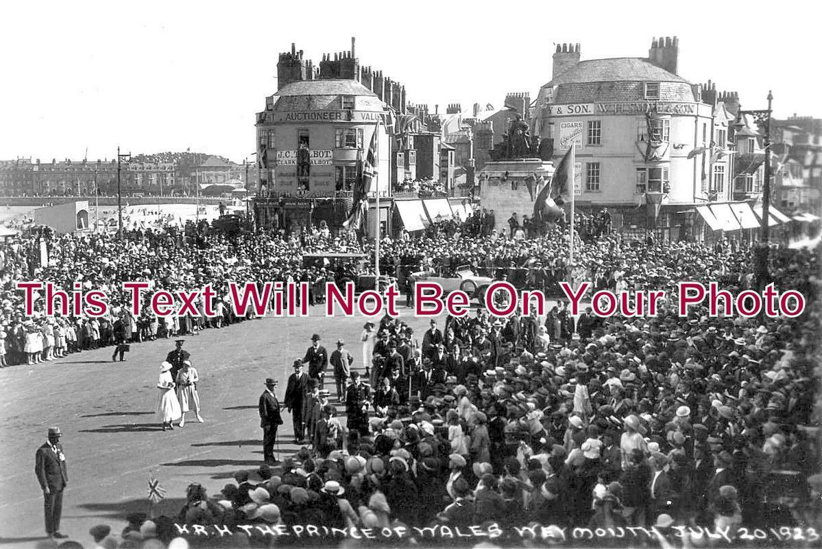 DO 1071 - Royal Visit Of Prince Of Wales, Weymouth, Dorset 1923