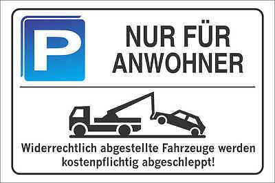 Parkplatzschild - NUR FÜR ANWOHNER - Alu-Dibond 300x200 cm DE4104