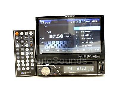 "New Soundstream VIR-7830B In-dash DVD/CD/MP3 Player 7"" Flip-Up Screen Bluetooth"