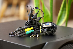 Logitech-Z-5500-Z5500-Control-Pod-Bypass-Cable-12FT-3-jack-with-volume-control