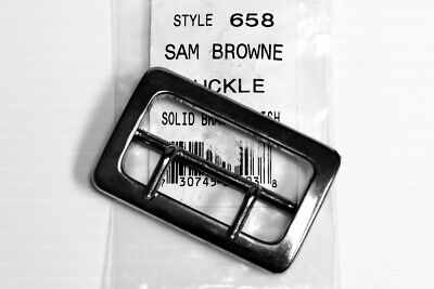 Sam Browne Replacement Buckle 2 14 Duty Belts Triple K Solid Polished Brass