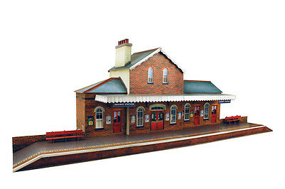 O gauge (7mm) 1:48 scale Model Trains Building RAILROAD STATION Kit CityBuilder for sale  Shipping to Canada