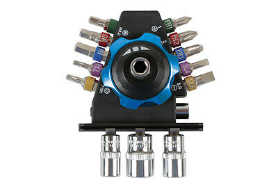 PALM RATCHET TOOL KIT COLOURED BITS SOCKETS GREAT FOR DIFFICULT ACCESS  Access Ratcheting Bit Set