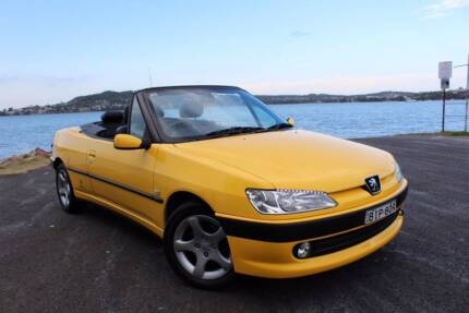 Peugeot Convertible Cabriolet 2001 Automatic Yellow