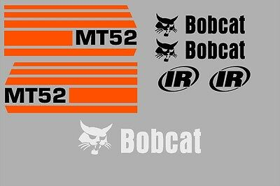 Mt52 Mt 52 New Decal Kit Sticker Set Mini Skid Loader Skid Steer Fits Bobcat