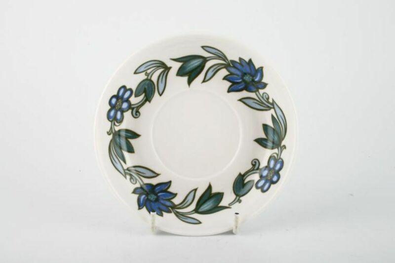 Susie Cooper - Art Nouveau - Blue - Coffee Saucer - 90623G