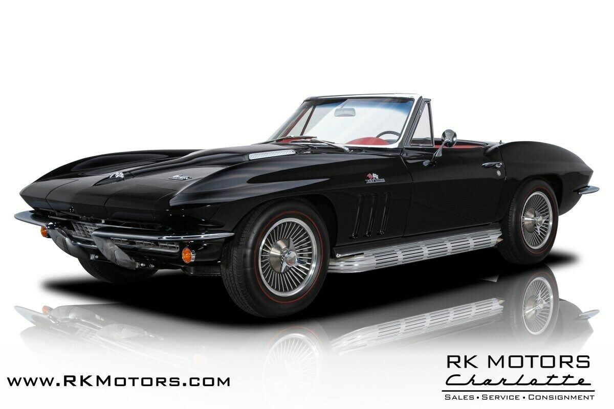 1966 Black Chevrolet Corvette   | C2 Corvette Photo 1