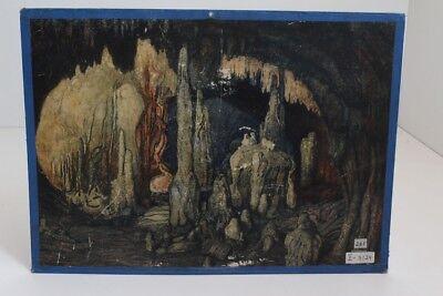 Old Schulwandtafel Wall Chart Tropfsteinhöhle