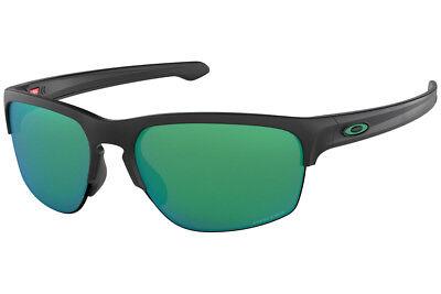 Oakley Silver Edge OO9414-05 Asia Fit Sunglasses Matte Black Prizm Jade 9414 - Edge Sport Sunglasses