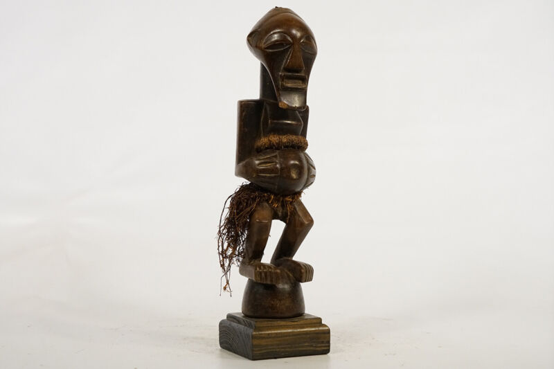 "Songye Fetish Statue 14.5"" on Base - DRC - African Art"
