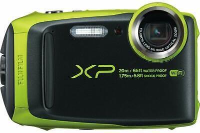 Fujifilm FinePix XP90 16.4MP Waterproof Digital Camera Lime Full-HD WiFi