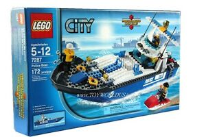 Lego ~CITY~ Police Boat #7287 Building Toy Set New/Sealed