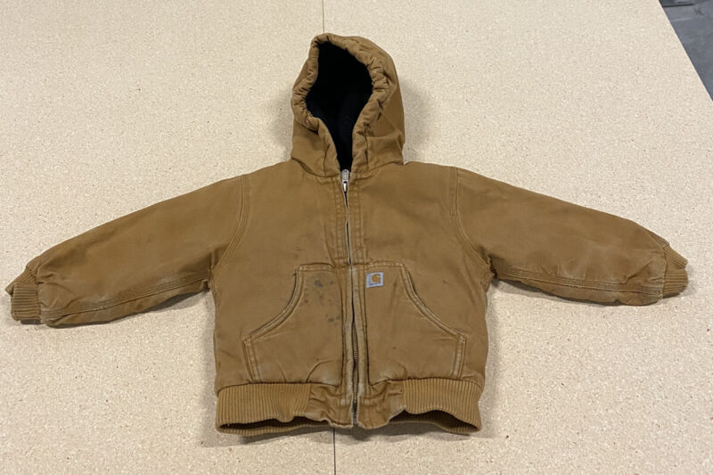 Toddler Boys Carhartt Thick Winter Work Jacket Size 3t