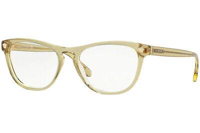 NWT VERSACE Eyeglasses VE3260 5271 TRANSPARENT BROWN W/ DEMO LENS 51MM