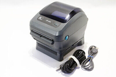 Zebra Zp450 Direct Thermal Label Barcode Printer W Usb Power Cable