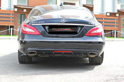 CUP Diffusor Ansatz für Mercedes CLS C218 W218 Heck Stoßstange Diffuser AMG Line
