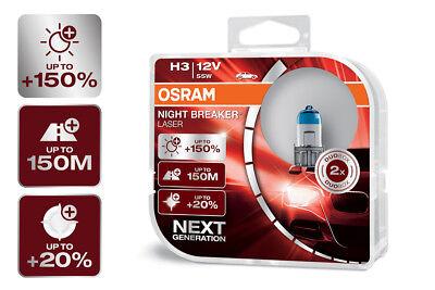 OSRAM Night Breaker® LASER NEXT GENERATION H3 Sockel +150% mehr Sicht DuoBox