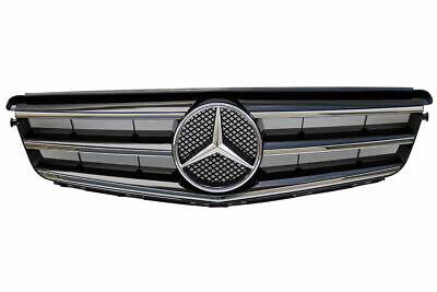 Mercedes Benz W204 C Class Front Radiator Grill Black Sport Grill 2008-2014